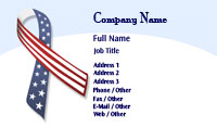 Patriotic Ribbon Business Card Template